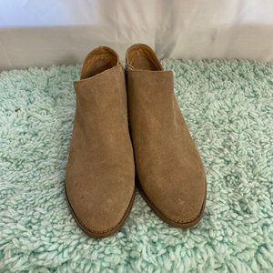 Lucky Brand Tan Suede Ankle Booties SZ 9.5